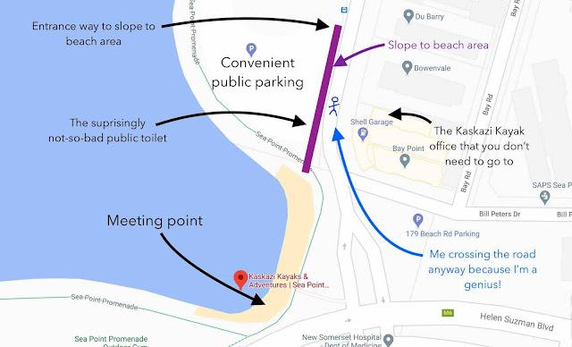 Kaskazi Kayak meeting point map