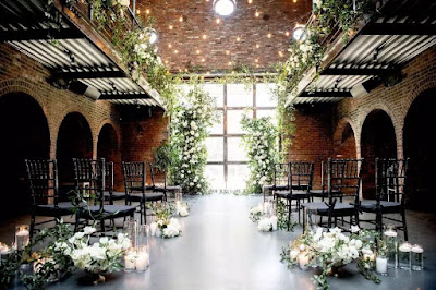 String Lights in wedding at The Foundry