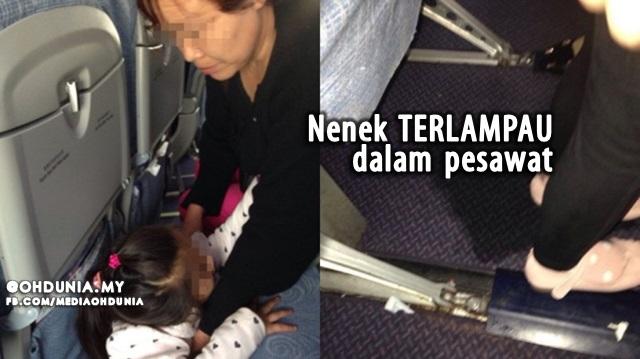 Nenek Terlampau, Biar Cucu Kencing Atas Lantai Pesawat Dikecam