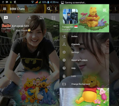 BBM Change Background Qith Winnie The Pooh v3.0.1.25 MOD APK
