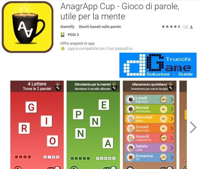 Soluzioni AnagrApp Cup - Gioco di parole