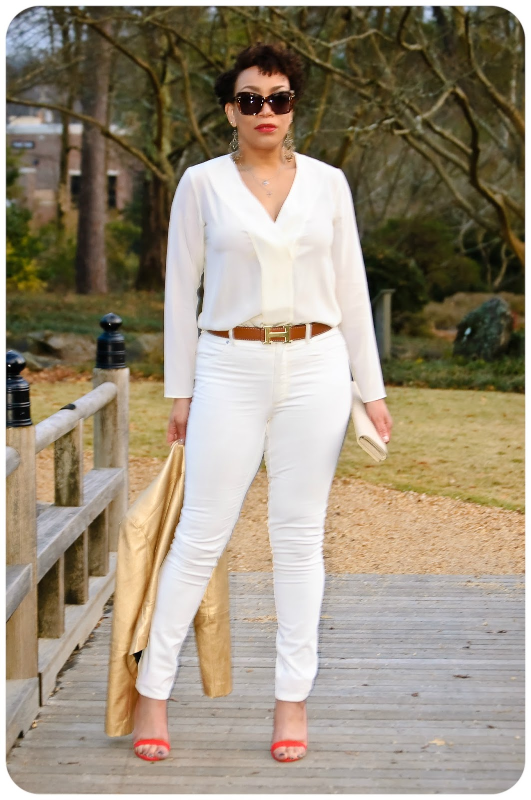 WINTER WHITE CORDUROY JEANS -- Erica Bunker DIYStyle!