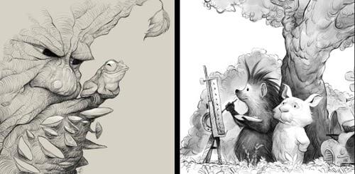 00-Creature-Drawings-Dave-Mottram-www-designstack-co