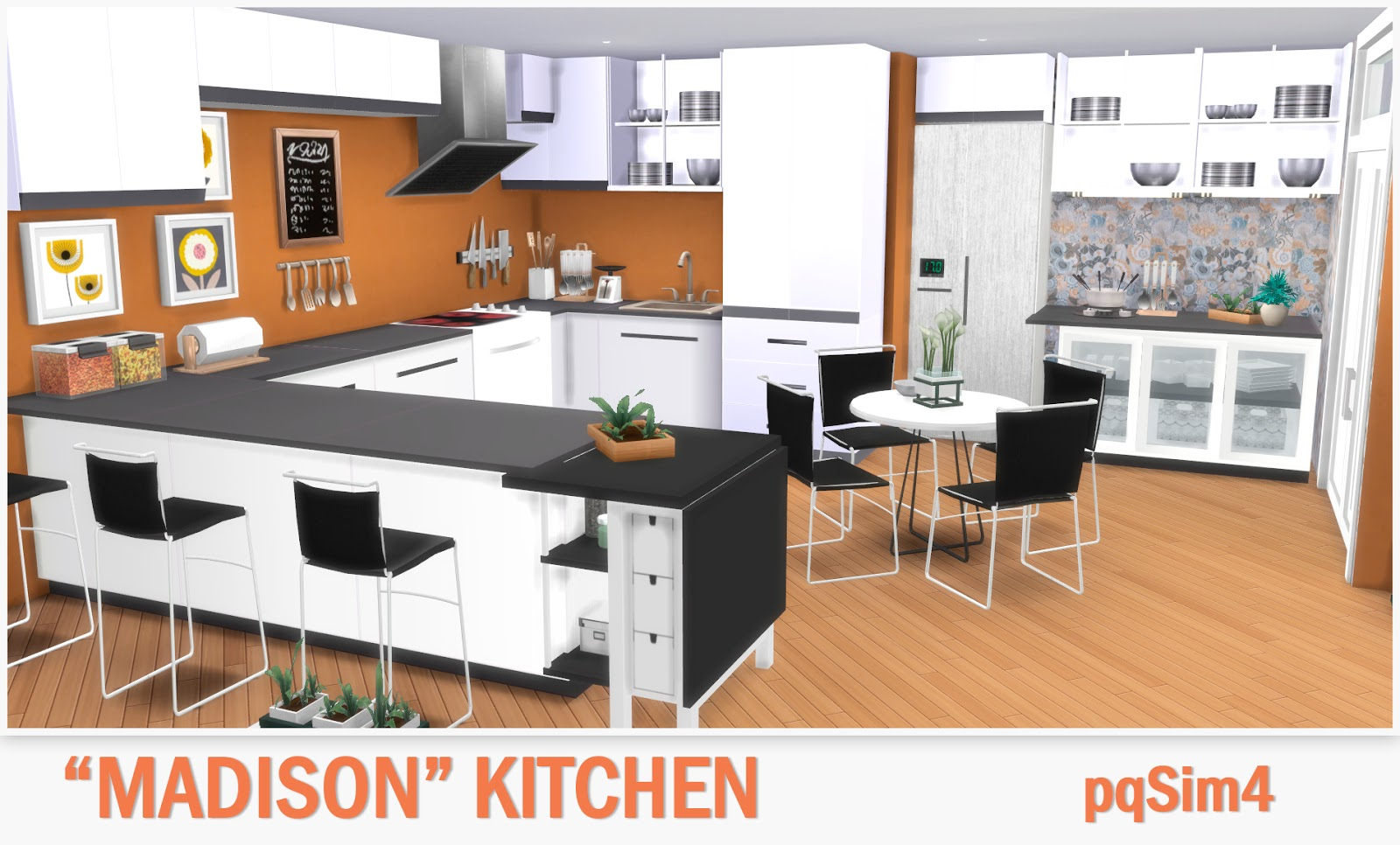 Kitchen madison sims 4 custom content for Kitchen ideas sims 4