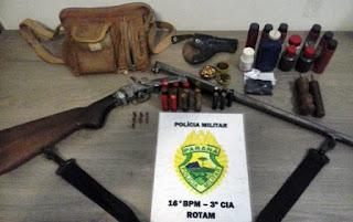 Pitanga: Homem é preso com arma e munições