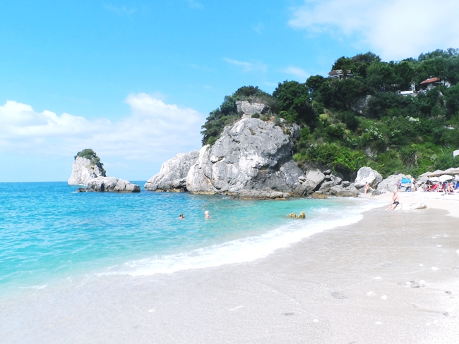 Parga city beach Piso Krioneri