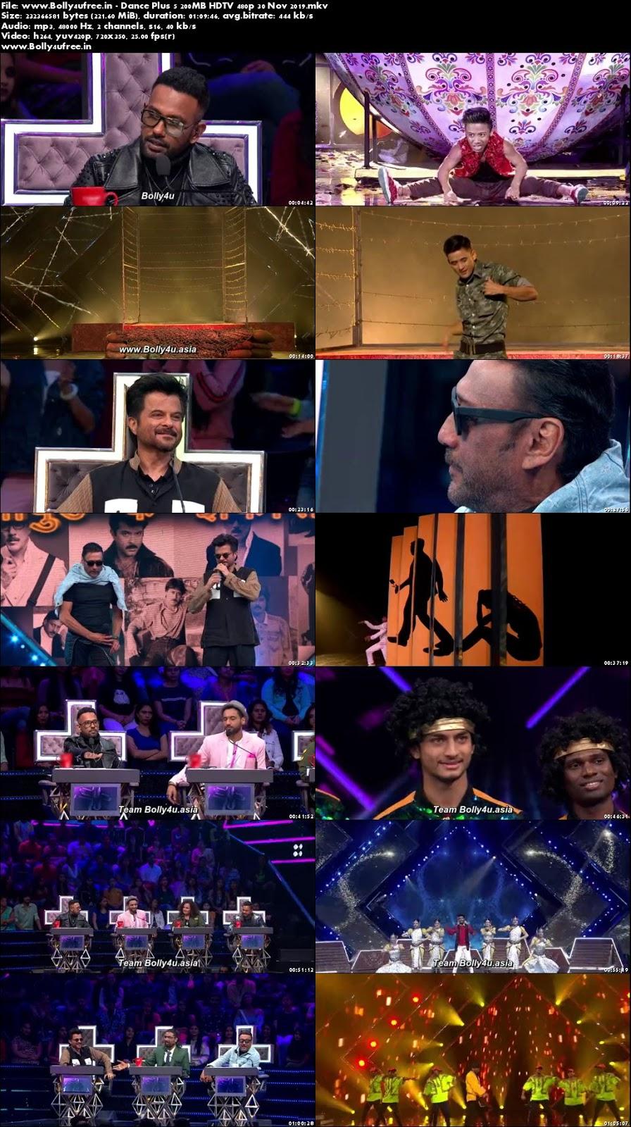 Dance Plus 5 200MB HDTV 480p 30 Nov 2019
