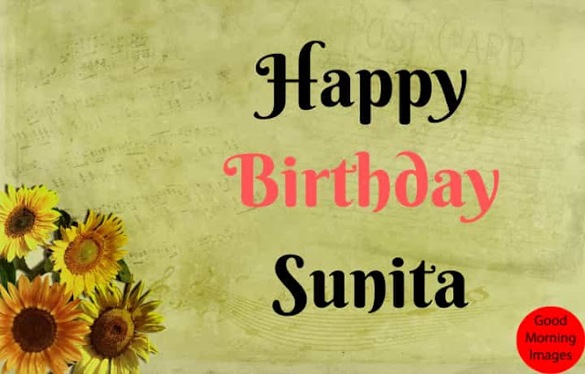 Happy Birthday images with name sunita