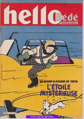 Hello-Bébé, numéro 13, 1991, L'étoile Mystérieuse de Hergé