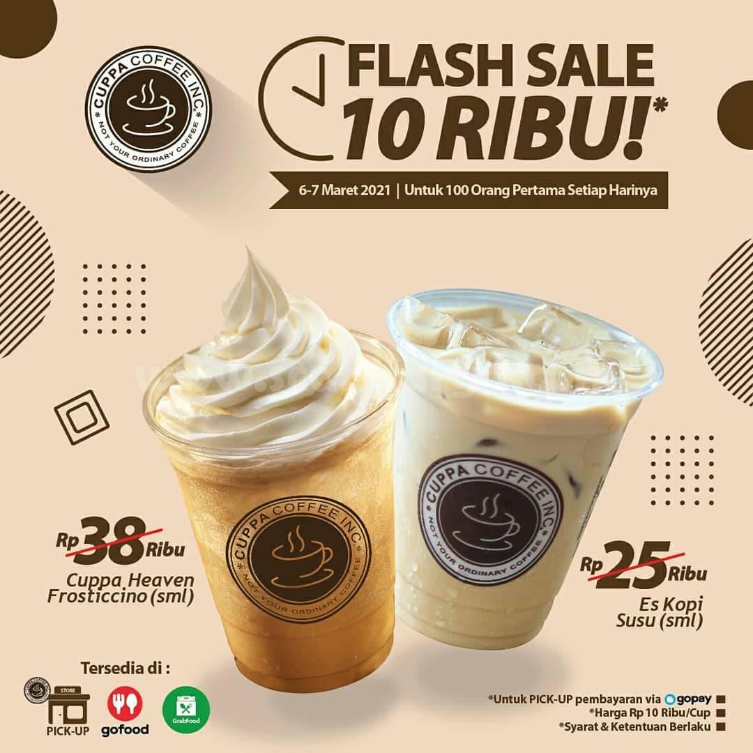 Cuppa Coffee Promo Flash Sale! cuma Rp 10.000!