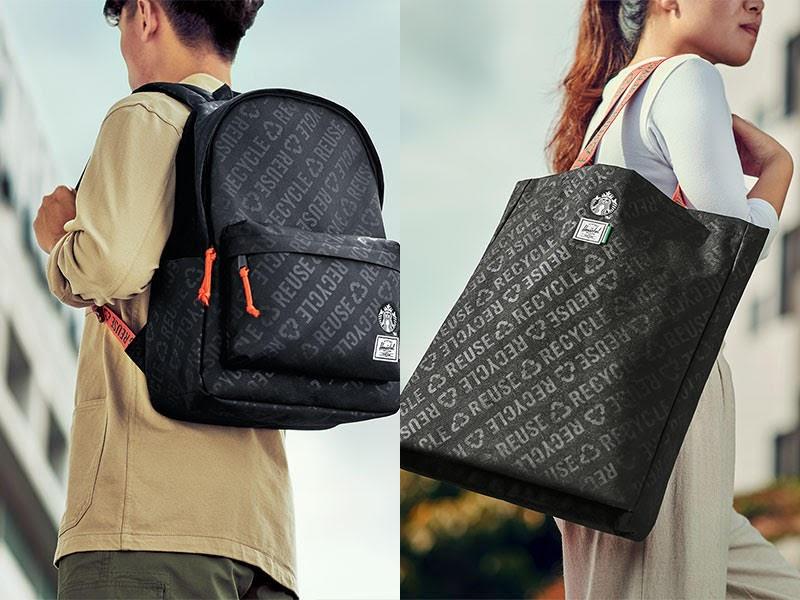 Starbucks® X Herschel Supply Backpack (RM 335) & Long Tote Bag (RM 168)