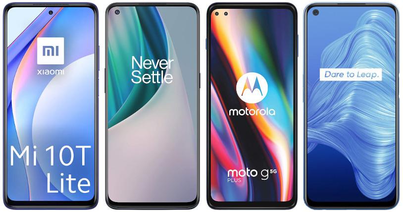 Xiaomi Mi 10T Lite 5G vs OnePlus Nord N10 5G vs Motorola Moto G 5G Plus vs Realme 7 5G