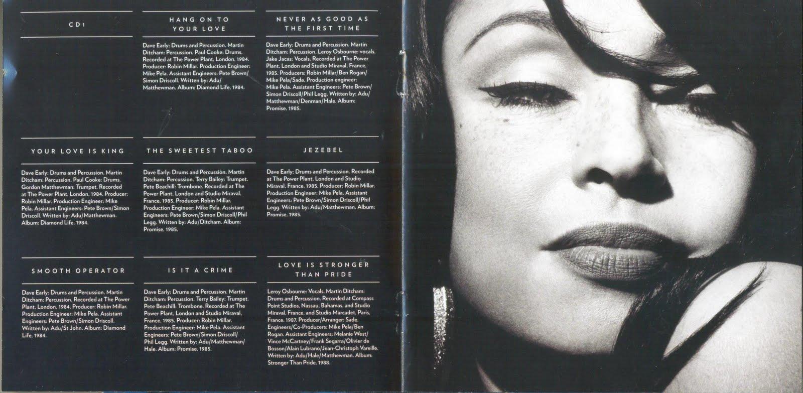 Sade The Ultimate Collection: Encartes Pop: Encarte: Sade