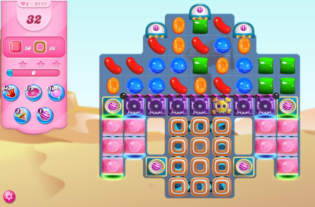 Candy Crush Saga level 9117