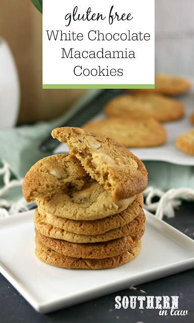 Easy Gluten Free White Chocolate Macadamia Cookies Recipe Soft and Chewy - Vegan, Dairy Free, Egg Free, Gluten Free Subway Cookies Recipe