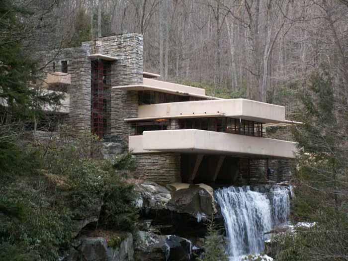 Un da una obra Wright casa de la cascada o casa Kaufmann