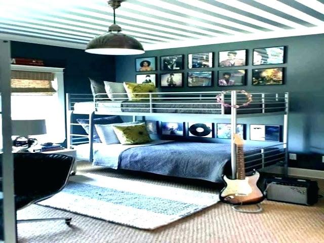ديكور غرفة نوم شبابية لمحبين الموسيقى 2020