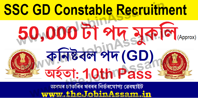 SSC GD Constable Recruitment 2021: Apply Online at ssc.nic.in for 50000+ Posts