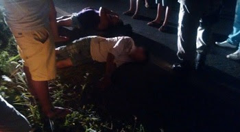 Acidente entre as cidades de Jaçanã e Nova Floresta deixa casal ferido