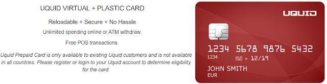 Uquid Visa Debit bitcoin atm card