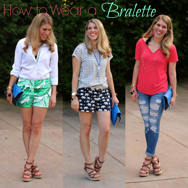 3 ways to wear a bralette