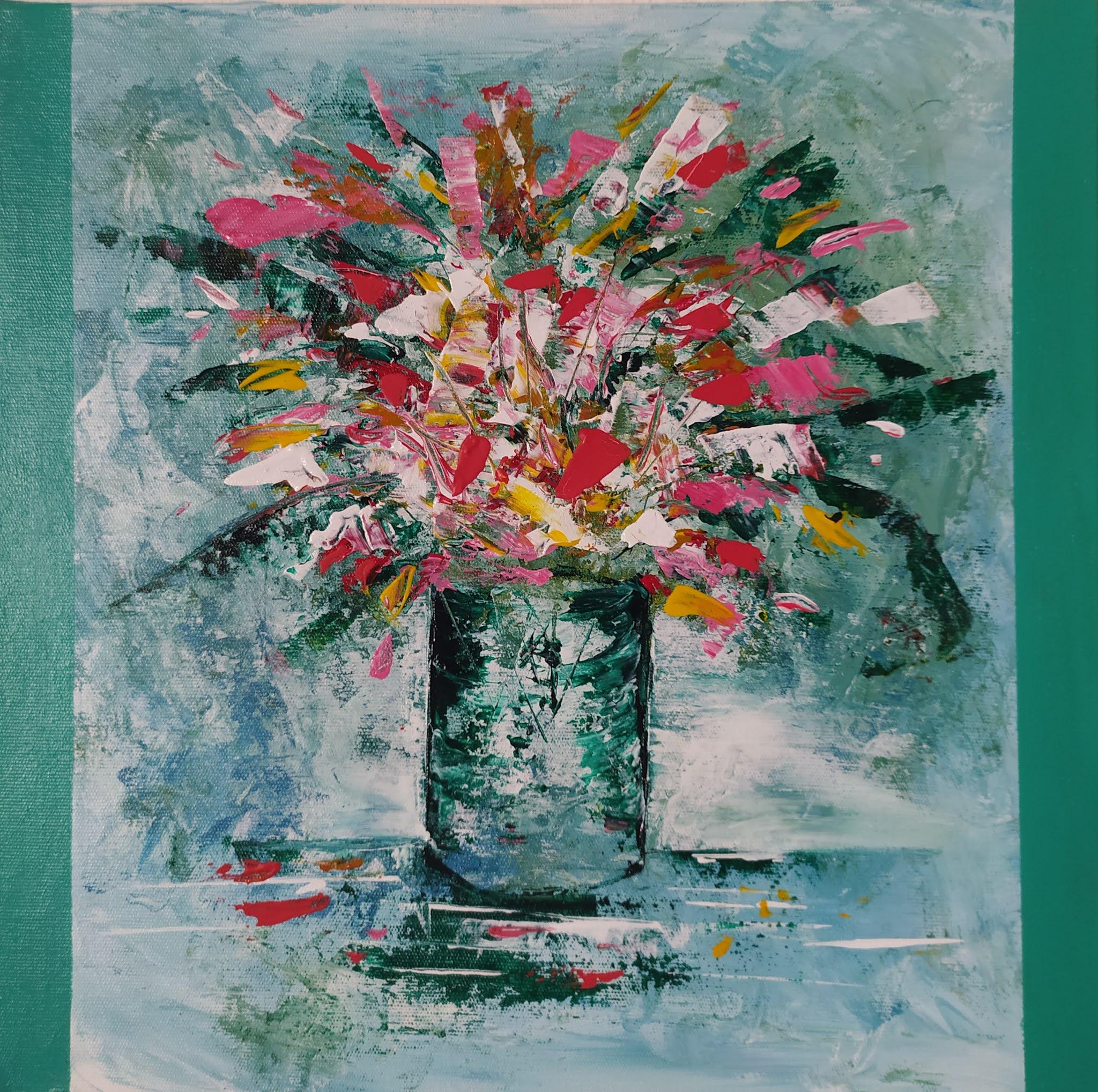 Jarro com Flores - detalhe