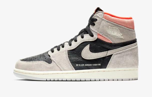 aa87ab58091c0e Air Jordan 1 SP19 Retro Hyper Crimson Grey Sneaker (Detailed Look + Release  Date Info)