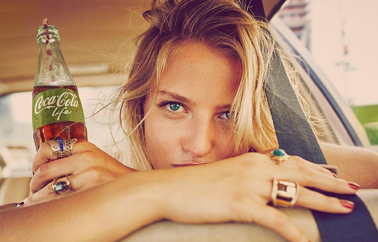 Pubblicità Coca Cola Life con estratto di Stelvia - Ottobre 2016