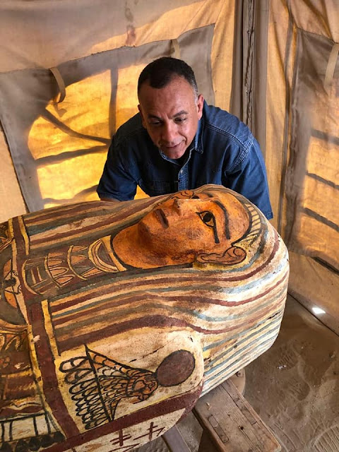 Another 14 intact wooden coffins unearthed in Egypt's Saqqara necropolis