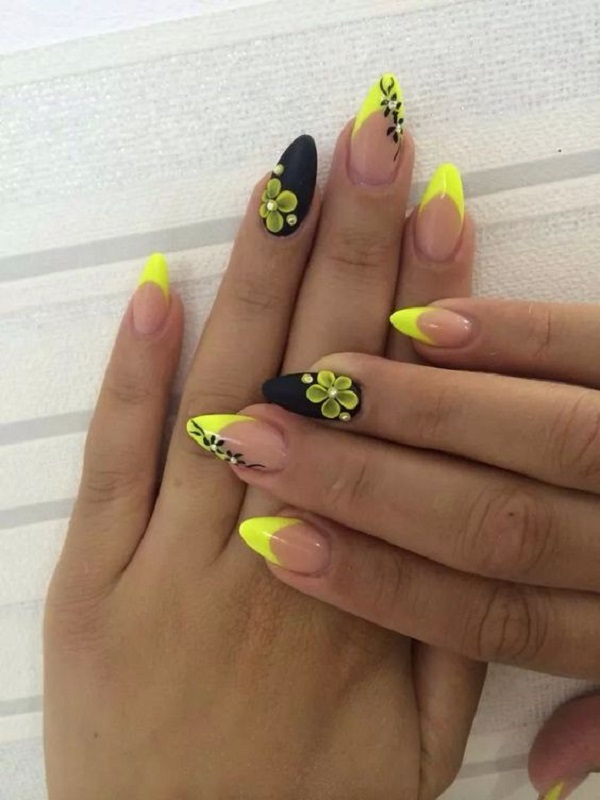 black and yellow ombre nails - Black And Yellow Ombre Nails – Papillon Day Spa