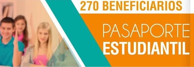 Pasaporte estudiantil beneficiará a 270 estudiantes el segundo semestre de 2017