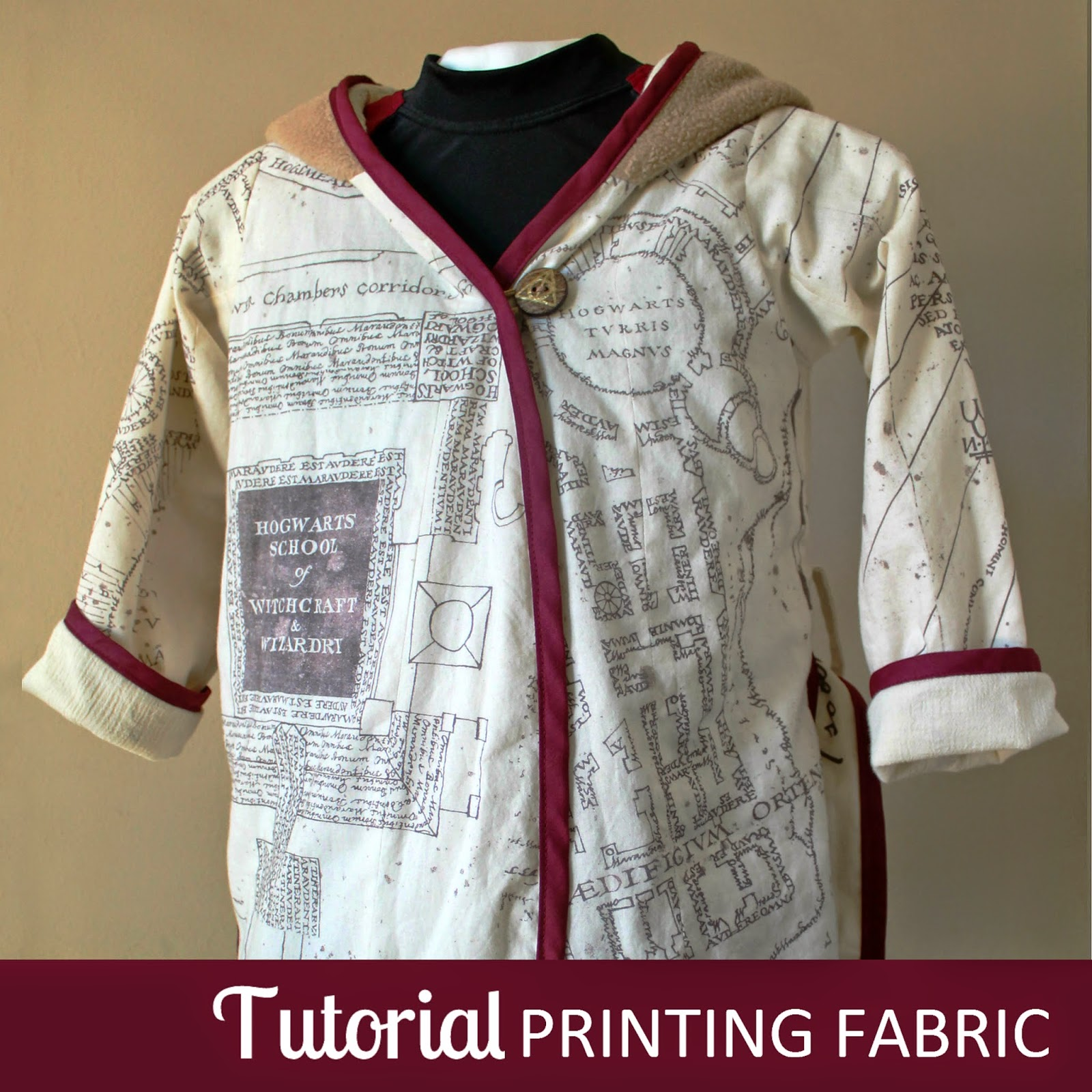 TUTORIAL: Fabric Printing | Learn how to print your own fabric with an ink-jet printer in this quick tutorial. | The Inspired Wren