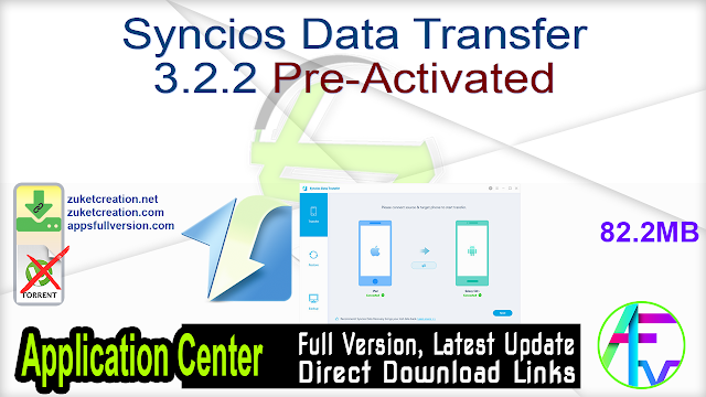Syncios Data Transfer 3.2.2 Pre-Activated