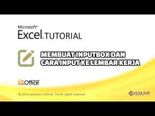 Membuat inputbox dan menuliskan hasilnya di lembar kerja excel