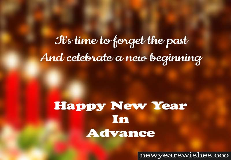 happy new year greetings in advance