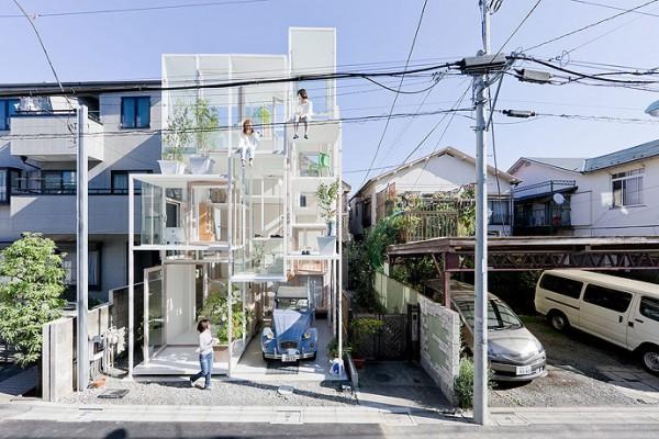 modern transparent house design