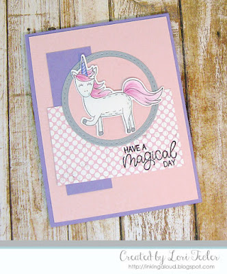 Have a Magical Day card-designed by Lori Tecler/Inking Aloud-stamps and dies from Lil' Inker Designs