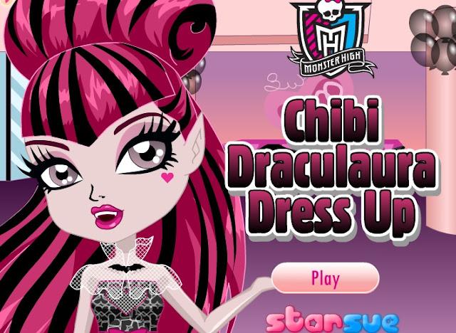 Juego Para Vestir A La Pequeña Draculaura Juegos Monster High