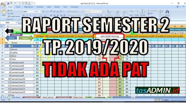 raport semester 2 tidak ada PAT
