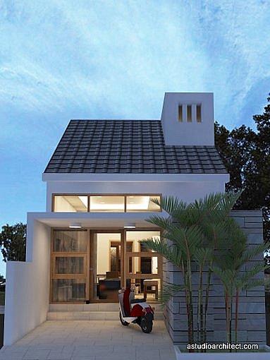 Desain rumah mungil lebar 5m