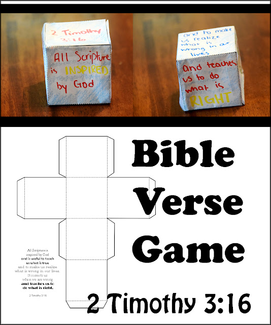 bible verse game with a cube