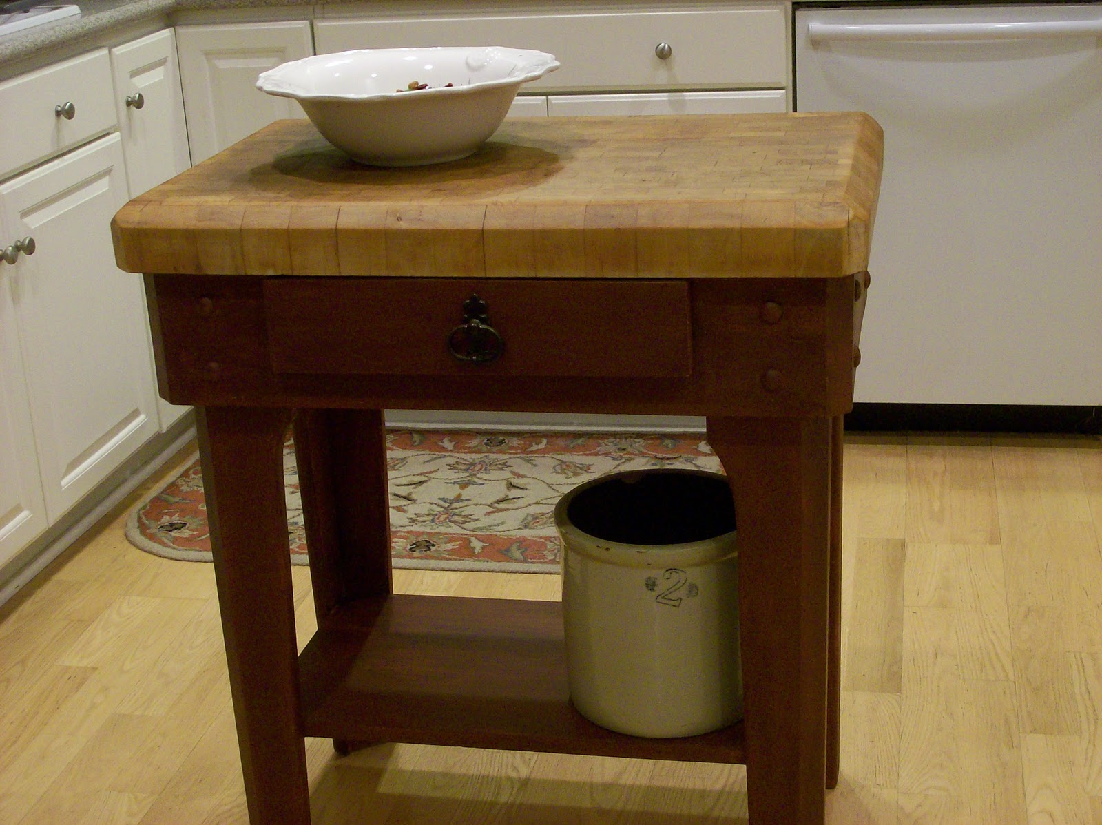 Butcher Block Red Kitchen Island : The butcher block kitchen island....it's for keeps
