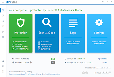 برنامج حماية Emsisoft Anti-Malware Home