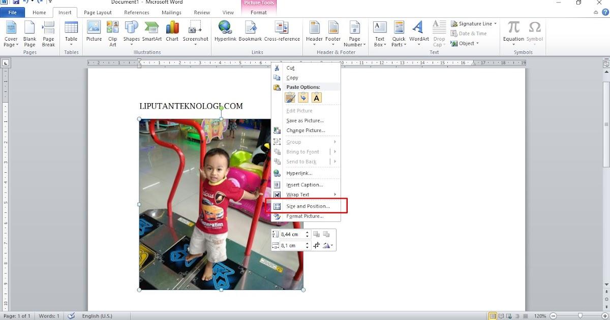 Ukuran Foto 4x6 Dalam Cm Di Word - Berbagai Ukuran