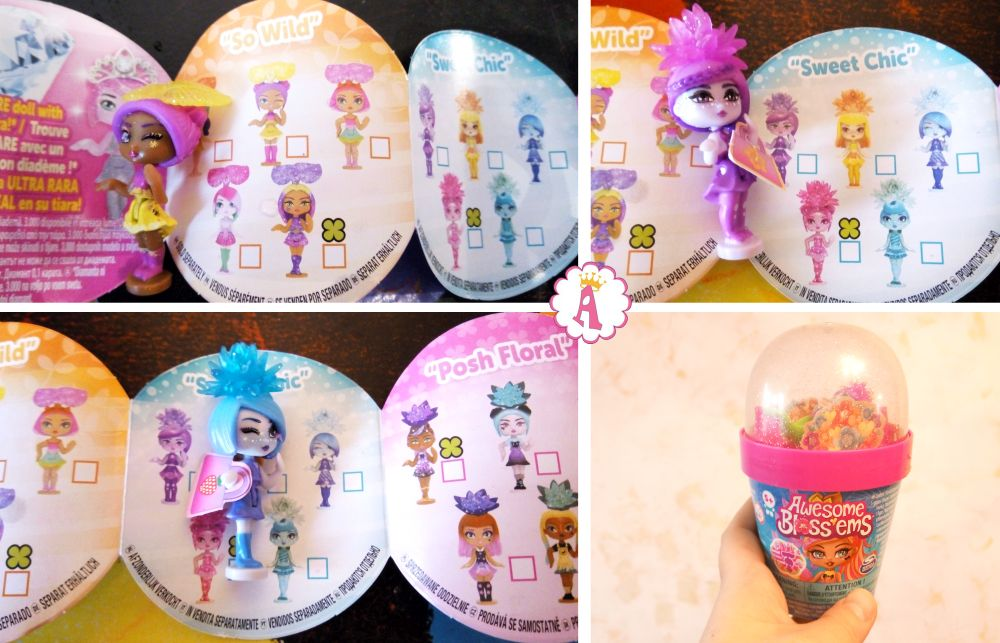 Вкладыш коллекционера к игрушкам цветам Awesome Blossems