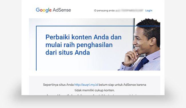 Penolakan Pengajuan Google Adsense #1