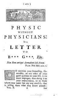 Physic without Physicians by John Toland (1670-1722)