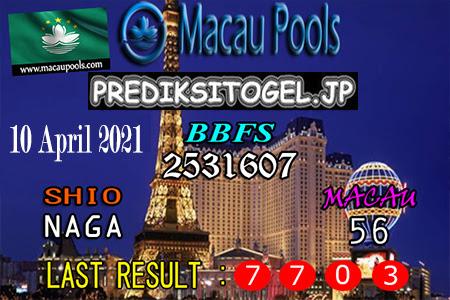 Prediksi Wangsit Togel Macau Sabtu 10 April 2021