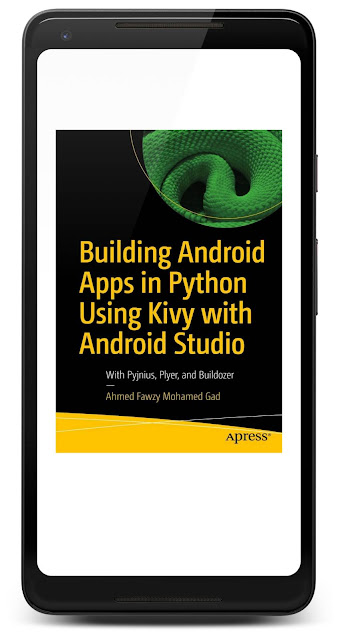 Cover of Building Android Apps in Python Using Kivy with Android Studio in Google Play Books on a Pixel 2 XL