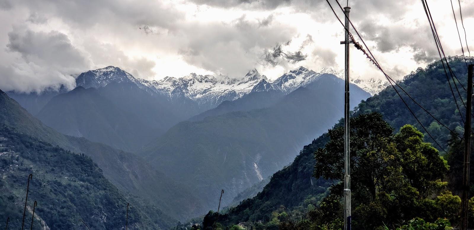 Himalayas View from Mangan